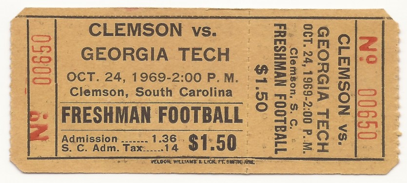 1969-10-24 - Georgia Tech Freshmen vs. Clemson Freshmen