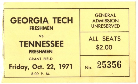 1971-10-22 - Georgia Tech Freshmen vs. Tennessee Freshmen
