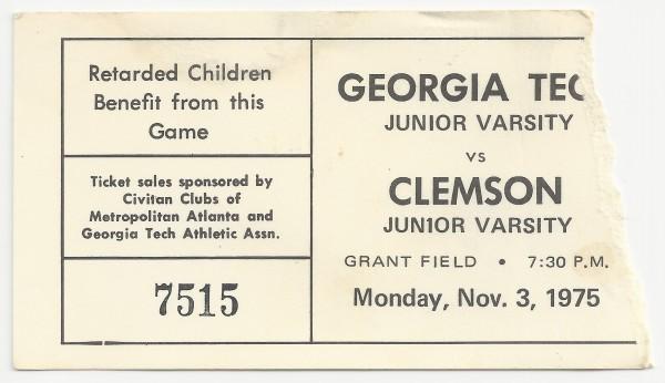 1975-11-03 - Georgia Tech J.V. vs. Clemson J.V.