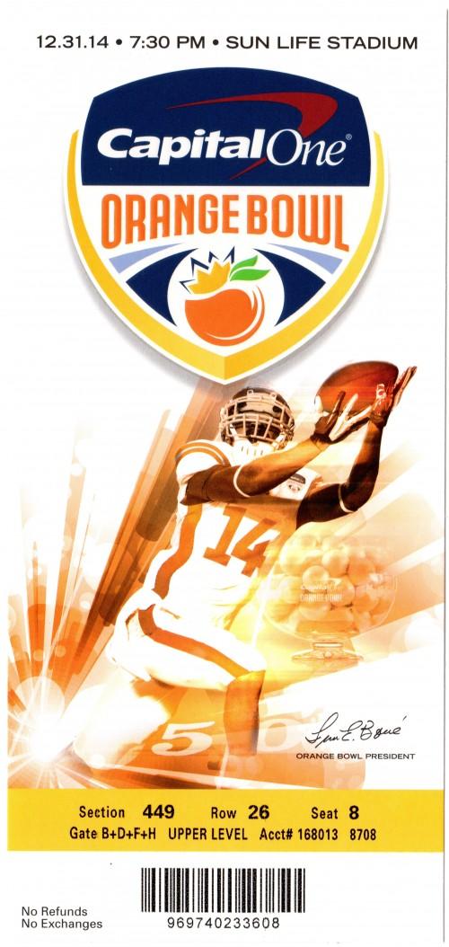 2014-12-31 - Georgia Tech vs. Mississippi State - Orange Bowl
