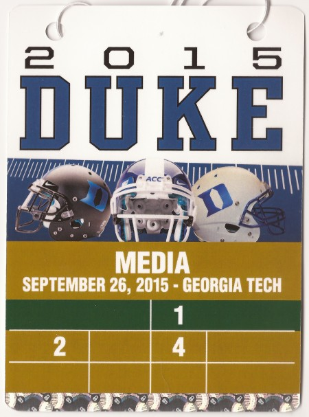 2015-09-26 - Georgia Tech at Duke - Press Pass