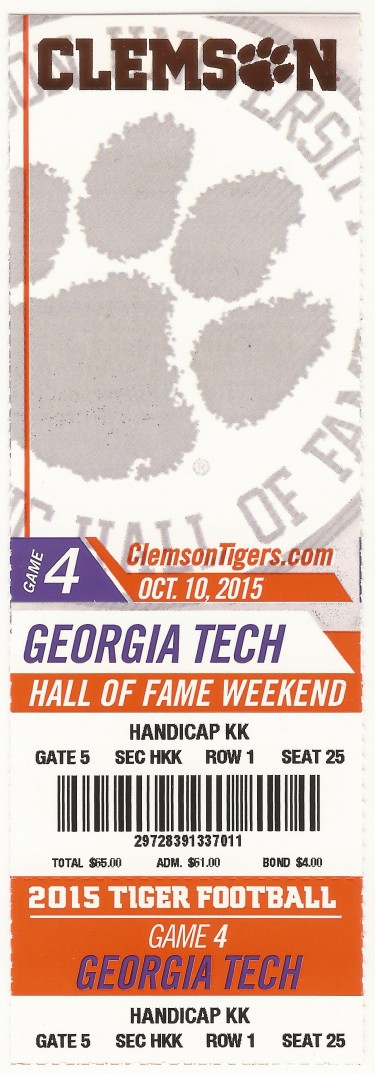 2015-10-10 - Georgia Tech at Clemson