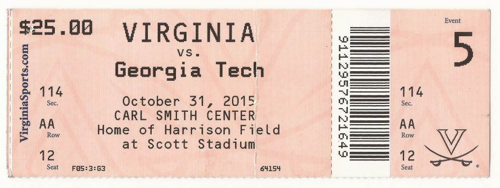 2015-10-31 - Georgia Tech at Virginia