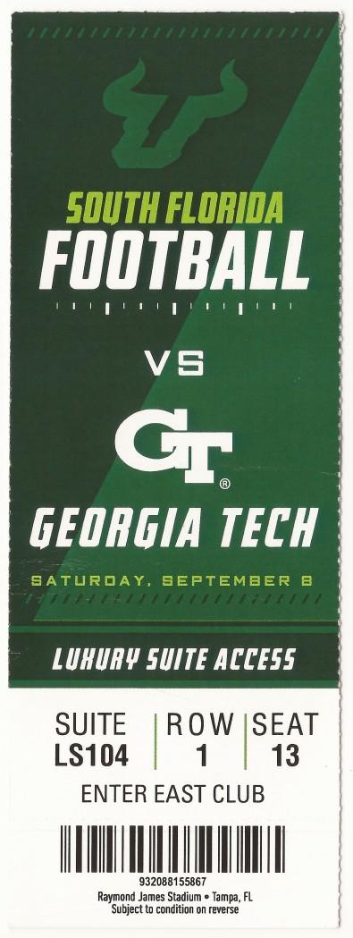 Georgia Tech at South Florida - 2018