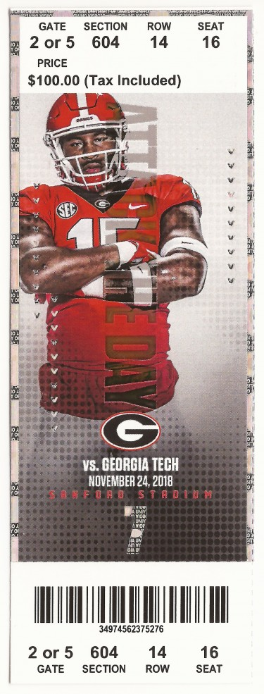 Georgia Tech at Georgia - 2018