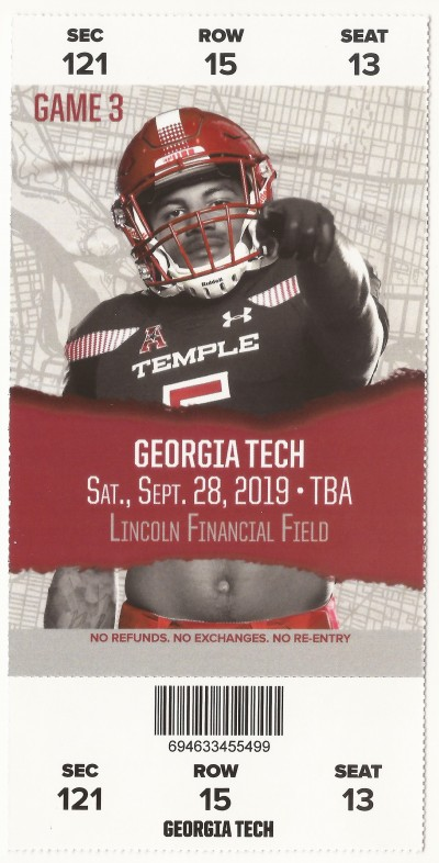 2019-09-28 - Georgia Tech at Temple