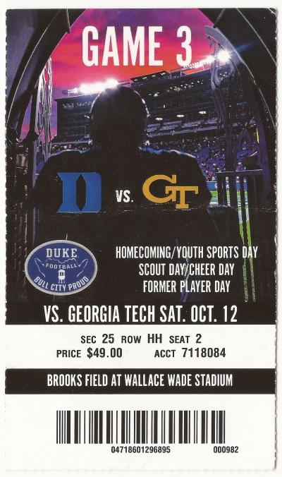 2019-10-12 - Georgia Tech at Duke