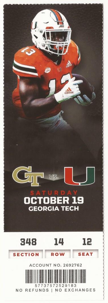 2019-10-19 - Georgia Tech at Miami